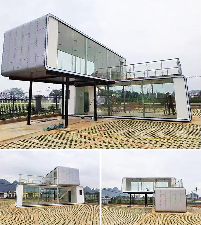 設計餐廳咖啡廳貨櫃屋 (可造上下雙層打通,加庇架及防水隔熱)D1